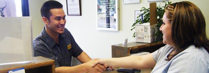 Chiropractic Harrisburg NC Greeting Patient
